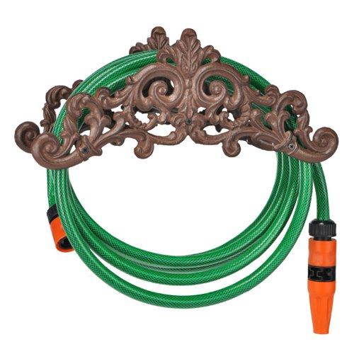 TP-Products - Porta gomma da giardino a parete in ferro battuto
