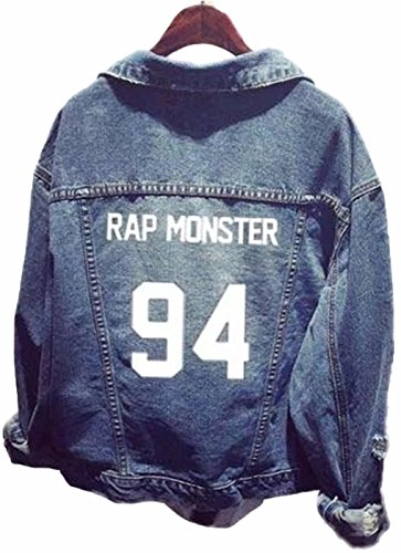 SERAPHY Unisex BTS Jeansjacke für Army BTS KPOP Hoodies Kapuzenpullover Suga Jin Jimin Jung Kook J-Hope Rap-Monster V 94 Rap Monster