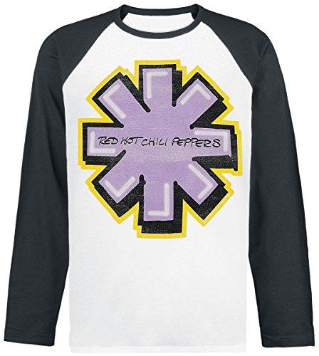Red Hot Chili Peppers Getaway Graffiti Manica lunga nero/bianco L