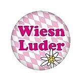 Kiwikatze® Fest - Wies'n Luder Button Ansteckbutton 37mm Oktoberfest Wiesn Volksfest für Dirndl oder Lederhose