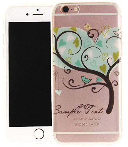 Nnopbeclik Silikon Transparent Hülle Für Apple Iphone 6 / 6S, Ultra Slim Weich TPU Cover Case Neu Design Super Durchsichtig Hohl Luxus Bling Blume Case Etui, Schutzhülle Muster Glänzend Glitzer Strass #31