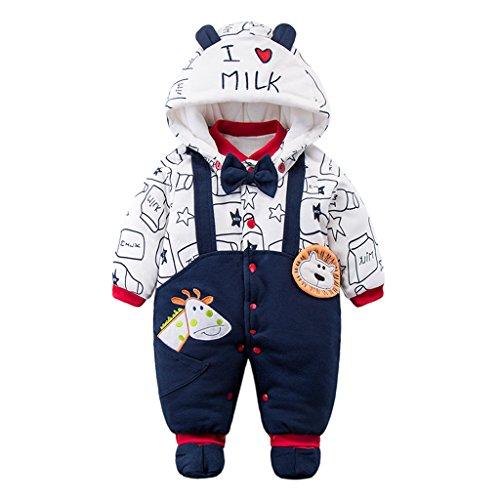 Unisex-strampelanzug (Baby Overall Strampler Winterjacke Mäntel Onesie Unisex Baby Strampelanzug mit Kapuze 0-12 Monate Vine)