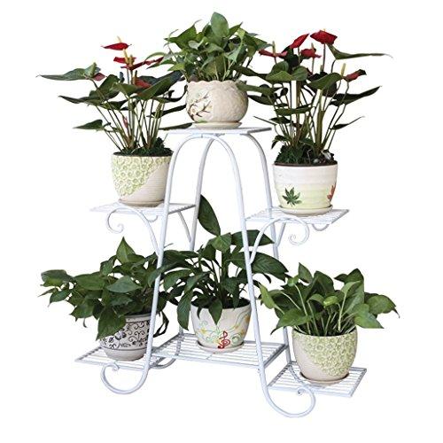 Wandmontiertes rundes Lagerregal-Rohrregal Schmiedeeisen-Blumen-Stand-mehrschichtiges stehendes Balkon-Pflanzer-Grün-Wohnzimmer-hängendes Orchideen-Regal-einfache Blumen für Bonsai, Bücher, Fotos, Eri
