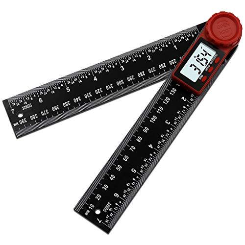 Digitaler Anzeigewinkel, Chshe TM, digitaler Winkelsucher, Winkelmesser mit beweglichem Lineal, Winkelmesser, Messschieber - Lock Baby Knopf