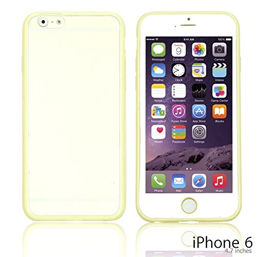 OBiDi - Colorful Gel Outlet with Hard Back Case / Housse pour Apple iPhone 6 / 6S (4.7 inch)Smartphone - Jaune avec 3 Film de Protection Jaune