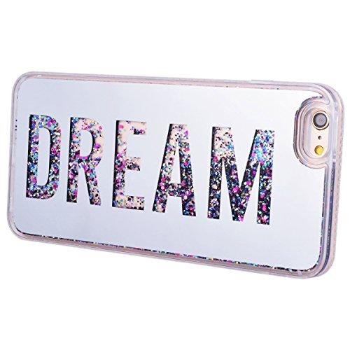 HB-Int Glitzer Hülle für iPhone 6 / 6S Schutzhülle TPU Bumper Bling Diamant Rahmen Luxus Sparkle Backcover Handyhülle Tasche Glänz Etui - Love Silber Dream Silber