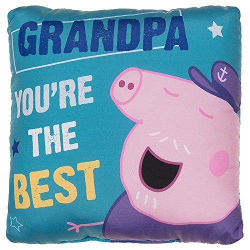 Mini peppa pig festa del papà, cuscino grandpa