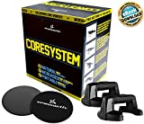 Crossactiv Coresystem - 2 Push up Bars PLUS 2 Core Sliders. FREE Exercise Ebook! Gliding Discs and Push up Stands create an ultimate core workout at home or gym! A total core training pack!
