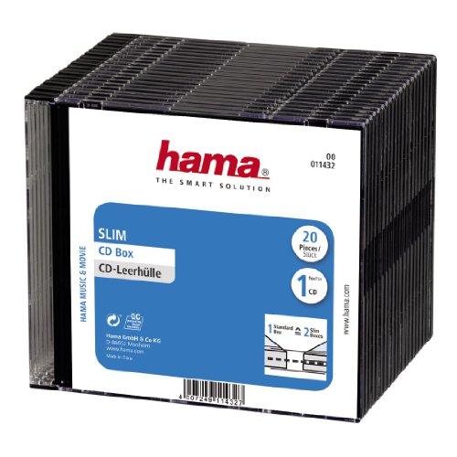 Hama CD-Leerhülle (20er-Pack, Slim, Höhe 5,2mm) schwarz