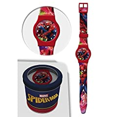 Idea Regalo - OROLOGIO SPIDERMAN MARVEL DA POLSO ANALOGICO CONF. CM 24 - 50580ROSSO