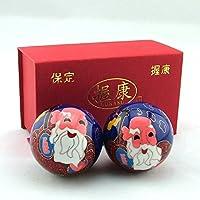 QTZS Chinesische Tradition Cloisonné Langlebigkeit Gesundheitsball Dekompression Handball 50mm 350g preisvergleich bei billige-tabletten.eu
