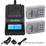[Fully Decoded] Kastar Ultra Fast Charger(3X Faster) Kit And EN-EL24 Battery (2-Pack) For Nikon EN-EL24 ENEL24 Rechargeable Li-ion Battery Work With Nikon 1 J5 Camera