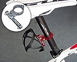 DSstyles Fahrrad Wasserflaschenhalter Alu-Adappter - Alu-Gestell für Flaschenkäfig - Radfahren Wasserflasche Käfig Clamp Lenker Rack Halterung für Fahrrad Mountain Road Bike (Grau)