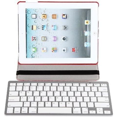 HDE Mini Multimedia Inalámbrica Bluetooth 3.0teclado para Windows PC Mac iOS iPad2/3/4/Mini/Air Apple TV y dispositivos Android plata