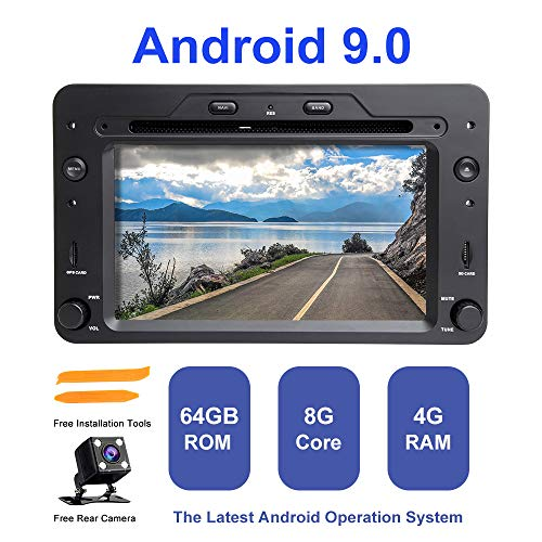 Android Autoradio Stereo, ZLTOOPAI für Alfa Romeo 159 Brera Spider Sportwagon 1 Din Android 9,0 Octa Core 4G RAM 64G ROM HD Digitaler Multi-Touchscreen Auto Stereo GPS Radio DVD-Player - Stereo-spider Auto