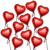 THE TWIDDLERS Globo de Helio en Forma de Corazón. 45 CM, Globos Románticos Rojos, día de San...