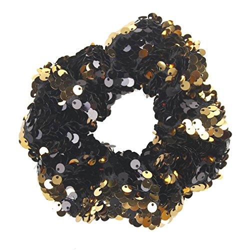 TUDUZ Mädchen Headwear Elastische Haarbänder Pailletten Ornament Ringe Haare Gummibänder...