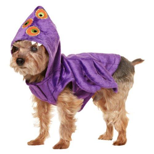 Monster Kostüm Dog - Martha Stewart Pets Violett Mutant Monster-Kleid up Dog Kostüm, Large, Violett