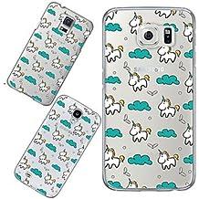 Casos hermosos, cubiertas, viaje de maycari®the unicornio en el cielo suave TPU transparente de nuevo caso para Samsung Galaxy S4 / S5 / S6 ( Modelos Compatibles : Galaxy S5 )