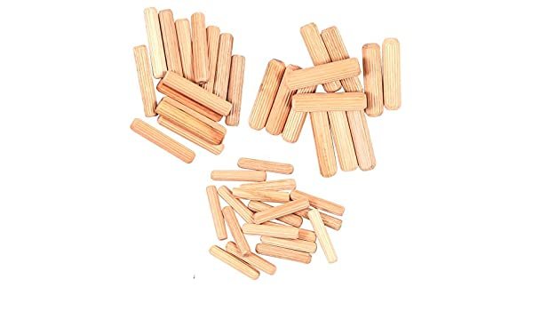 M8 /& M10 Hard Wood Fluted Plugs for Furniture Woodwork 44Pc Wooden Dowel Pin Set M6