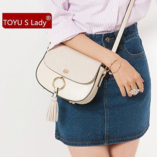 S Lady Handbag Collection, Borsa a tracolla donna Beige