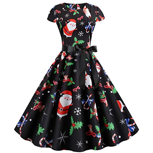 Lucky H Womens Swing Dress, 30s 40s 50s 60s Vintage Dress,Audrey Hepburn Style Evening Party Rockabilly Dresses,Women