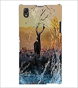 PrintDhaba Deer D-4873 Back Case Cover for SONY XPERIA Z1 (Multi-Coloured)