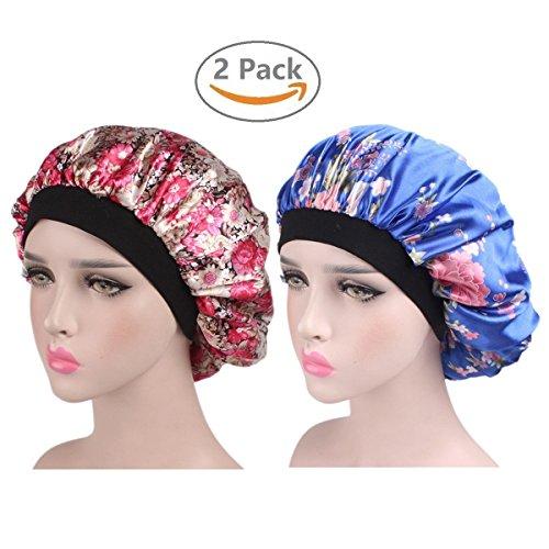EINSKEY Gorro Dormir Mujer, 2PCs Turbantes Pañuelos Cabeza de Saten