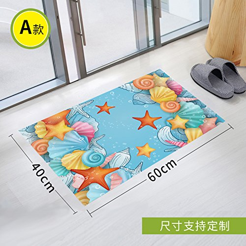 Stick Slip Sticker Toilet Scrub Toilet Waterproof Gummed Paper Twill Bathroom Glass Pad To Remove Environmental Protection, 90 * 60Cm,One -