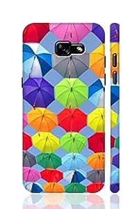 AMAN Umerlla Rain 3D Back Cover for Samsung Galaxy A7 2017