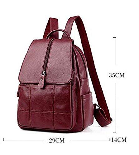 Einfache Stilvolle Damen Tasche Umhängetasche Beiläufige Reise Großer Kapazitätsrucksack E