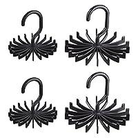 4 Pieces Tie Belt Rack, Organizer, Jewelry Hanger Holder Hook for Closet Organizer 360 Degree Rotating