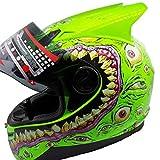 Einzelne/Double Angle Moto Motorrad Helm Unisex Erwachsene Off-Road Flip Up Full Face Helme Motocross Caps für alle Jahreszeiten 15 Farben XXL