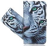 HTC Desire 12 Handy Tasche, FoneExpert® Wallet Case Flip Cover Hüllen Etui Hülle Ledertasche Lederhülle Schutzhülle Für HTC Desire 12