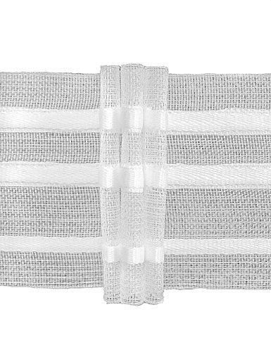Ruther & Einenkel Faltenband mit 3 Falten, 50 mm, 200% / Aufmachung 10 m, Polyester, transparent, 1000 x 5 x 0.12 cm -