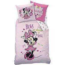 Minnie Mouse - niños Ropa de cama Juego de cama reversible Linon 80/80 x 135/200cm