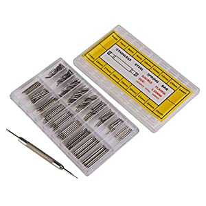 Febbya Uhren Edelstahl Federstege, Uhr Spring Bars Federsteg Uhren-Werkzeug mit Remover Repair Tool 360 Stück 6-23mm