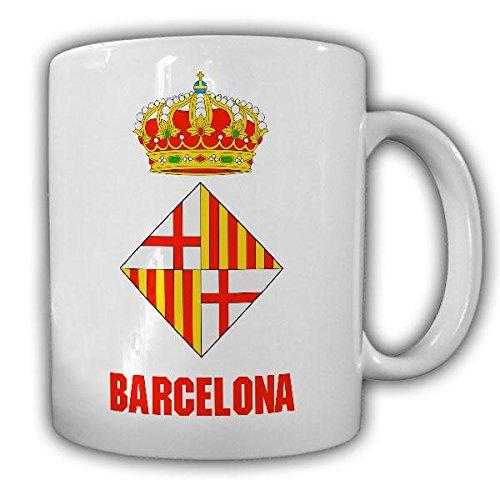 Barcelona Spanien Wappen Fahne Abzeichen Hauptstadt Katalonien Urlaub Kaffee Becher Tasse #20152