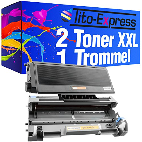 PlatinumSerie 2 Toner-Patronen & Trommel XXL Black kompatibel für Brother TN3170 & DR-3100 HL-5240DN HL-5240DNLT HL-5240L