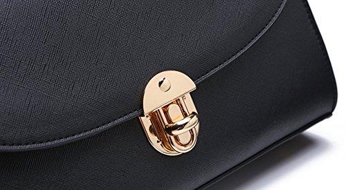 Pacchetto piccolo signore, versione coreana della semplice personalità dello zaino portafoglio spalla portatile ( Colore : Nero ) Nero