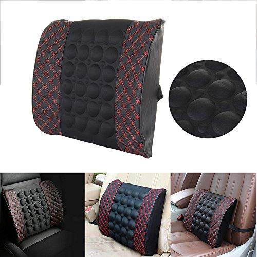 Memory Baumwolle Lendenwirbelsäule Unteren Rücken Schmerzlinderung Unterstützung Kissen Sitz Auto Stuhl Orthopädische Haltung Pillow Pad - zuhause, im Büro oder im Auto (Schwarz)