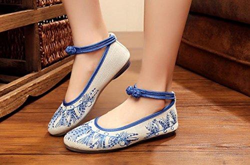 DESY scarpe ricamate, unico tendine, stile etnico, femaleshoes, moda, comodi, scarpe da ballo Yellow