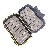 HCFKJ ABS Hartplastik Fliegenfischen Köder Haken Aufbewahrungskoffer Box Wasserdichtes Getriebe