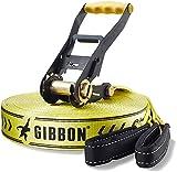 GIBBON Slacklines Classic Line X13 XL 25 m Slackline Set with Ratchet Protection