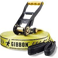 Gibbon Slacklines Set Classic Xl - Slackline, talla 25, color amarillo y negro
