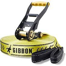 Gibbon Slackline Set Classic Xl - Slackline, talla 25, color amarillo y negro