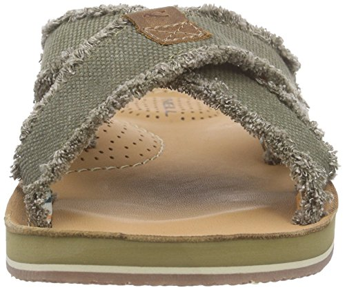 O'Neill Axed Raffled Canvas, Sandales  Bout ouvert homme Grün (E25 Olive)