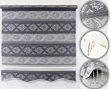 Brillant Gardinen Duorollo Klemmfix Fenster Tür Rollo Ohne Bohren Newly Grau-Silber Glitzer (90 x 200 cm)