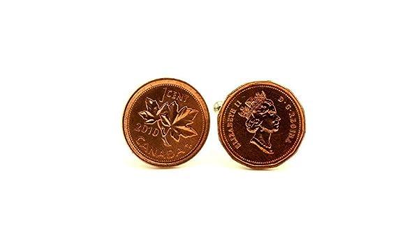 Kanada 1 Cent CUFFLINKS Manschettenknöpfe Münzen NEU