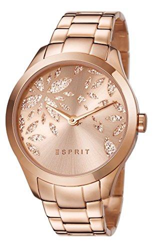 Esprit Damen Armbanduhr Datum klassisch Quarz Edelstahl ES107282002